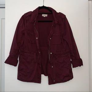 Loft Maroon utility jacket